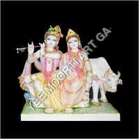 Stone Radha Krishna Statue
