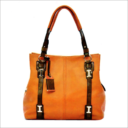 Ladies Orange Color Hand Bag