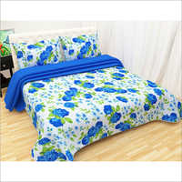 3d White Base Bedsheet