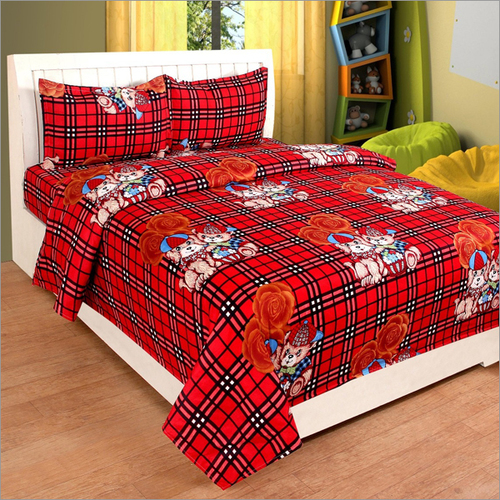 Cartoon Print Bedsheets For Kids