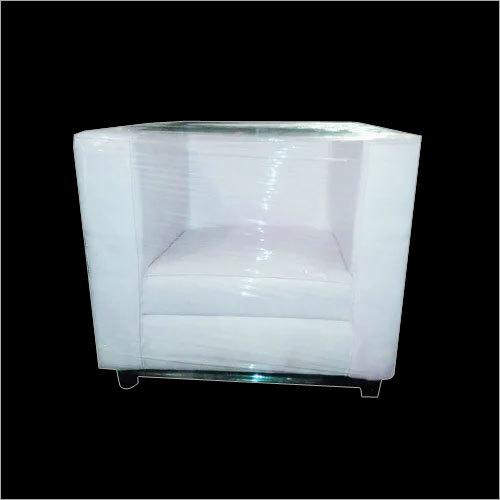 Single Seater White Sofa