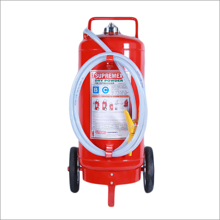 Trolley Mounted Dry Powder Extinguisher