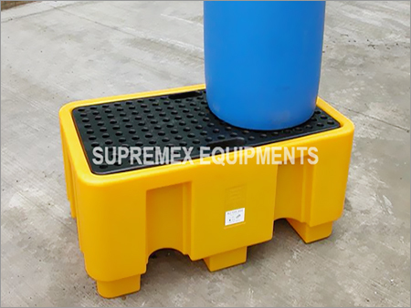2 Drum Poly Spill Pallet