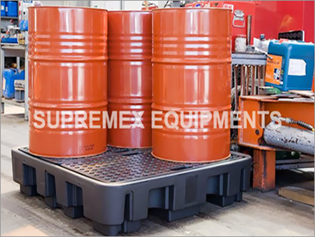 4 Drum Poly Spill Containment Pallet