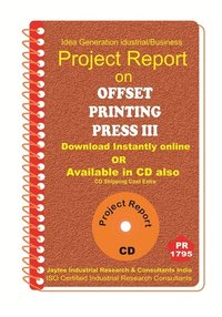 Offset printing Press III project Report eBook