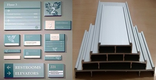 Aluminium Flat Signage Directory