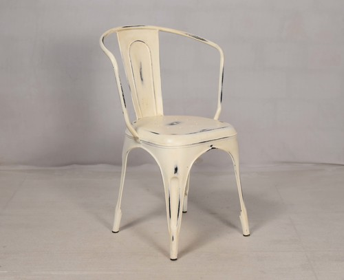 Vintage Distressed Metal Chair