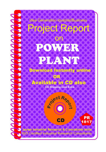 Power Plant Project Report eBook