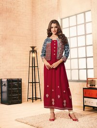 Jacket kurti 1141-1150 catalog tapsee pannu  in rayon