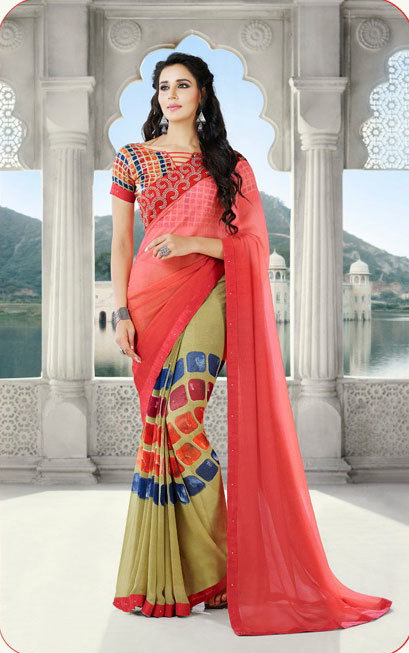 Saree exotica 6661-6672 georgette saree catalog with border work