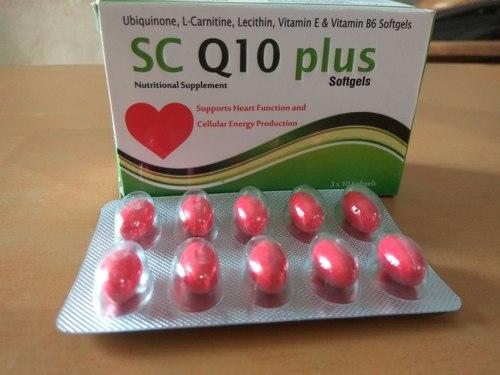Ubiquinone and L-Carnitine and Lecithin and Vitamin E and Vitamin B6 Softgel Capsules