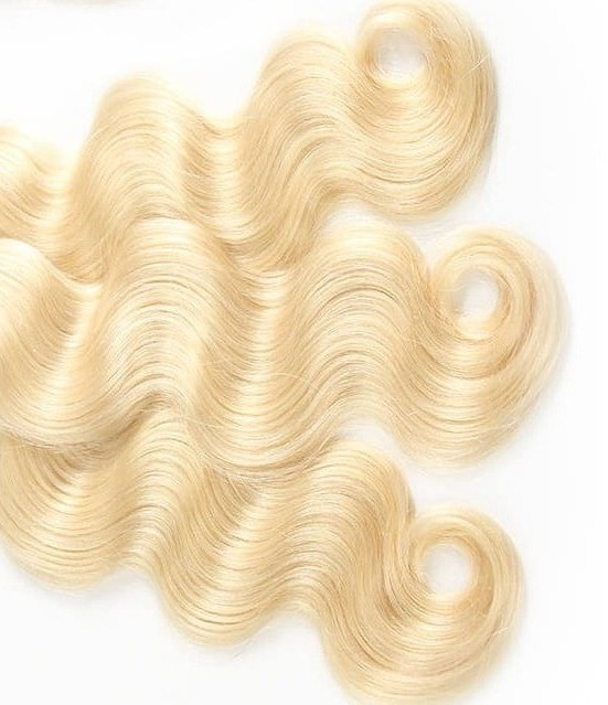 Platinum Blonde Body Wave Hair