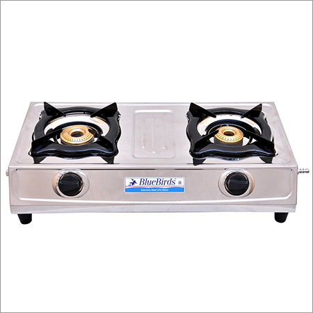 2 Burner Stainless Steel LPG Gas Stove