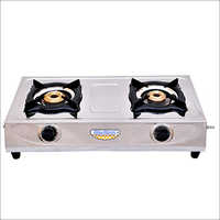 2 Burner Blue Birds SS LPG Gas Stove