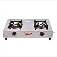 2 Burner Surya Stainless Steel LPG Gas Stove