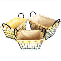 Ivory Liner Metal Basket
