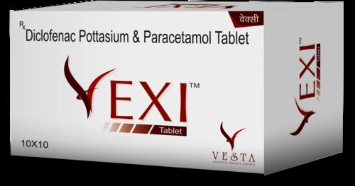 50mg Diclofenac And 325mg Paracetamol Tablet