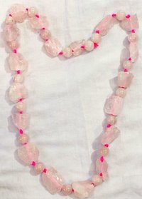 Rose Quartz Raw Stones Necklace