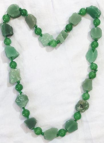 Green Aventurine Raw Necklace