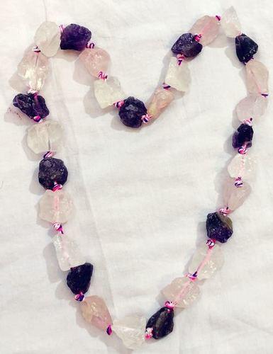 Amehtyst Rose Quartz Fusion Necklace