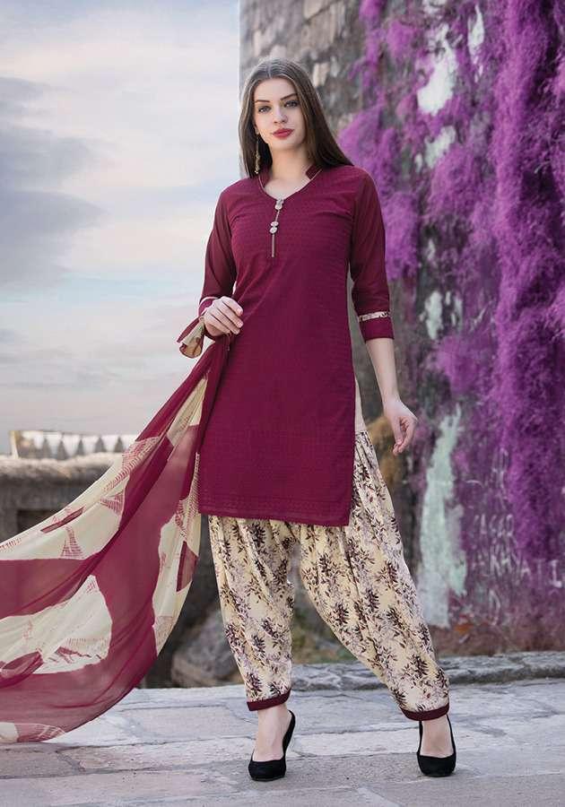 Sethnic cotton dress material wholesaler in surat chikan work suits