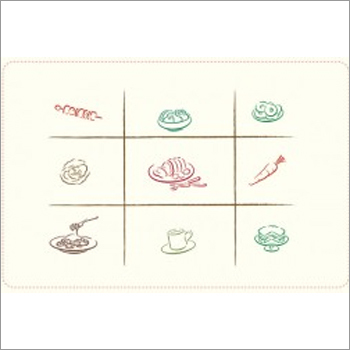 Paper Table Mats - Foods Fade White-Pack of 1000