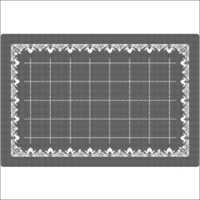 Paper Table Mats - White Border-Black Geometry Pack of 1000