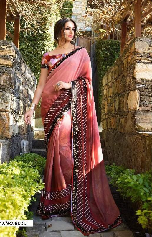 Georgette catlog 8001-8017 wholesale catalog sarees online