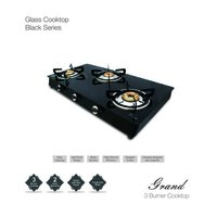Auto Ignition 3 Burner Glass Gas Stove