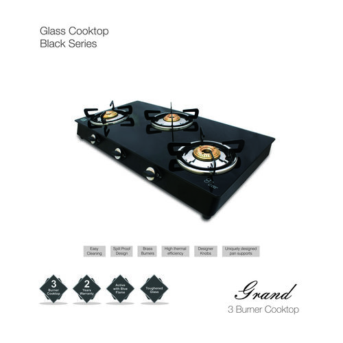 Auto Ignition Glass Gas Stove