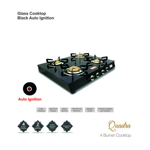 4 Burner Auto Ignition Gas Stove