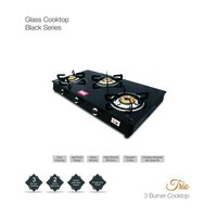 3 Burner Toughened Glass Stove