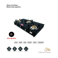 3 Burner Auto Ignition Gas Stove