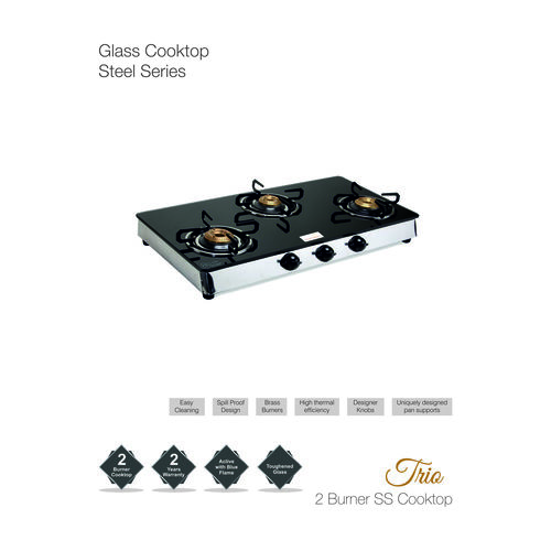 2 Burner Glass Stove