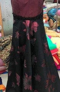 Black Jacquard Garments Fabrics