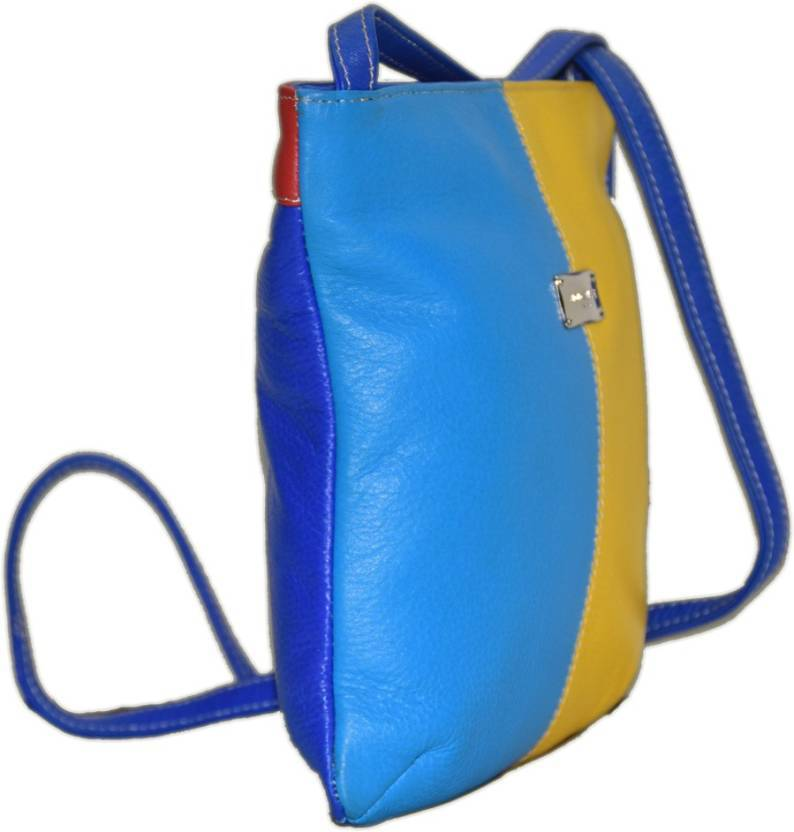 Multi Color Leather Crossbody Bag