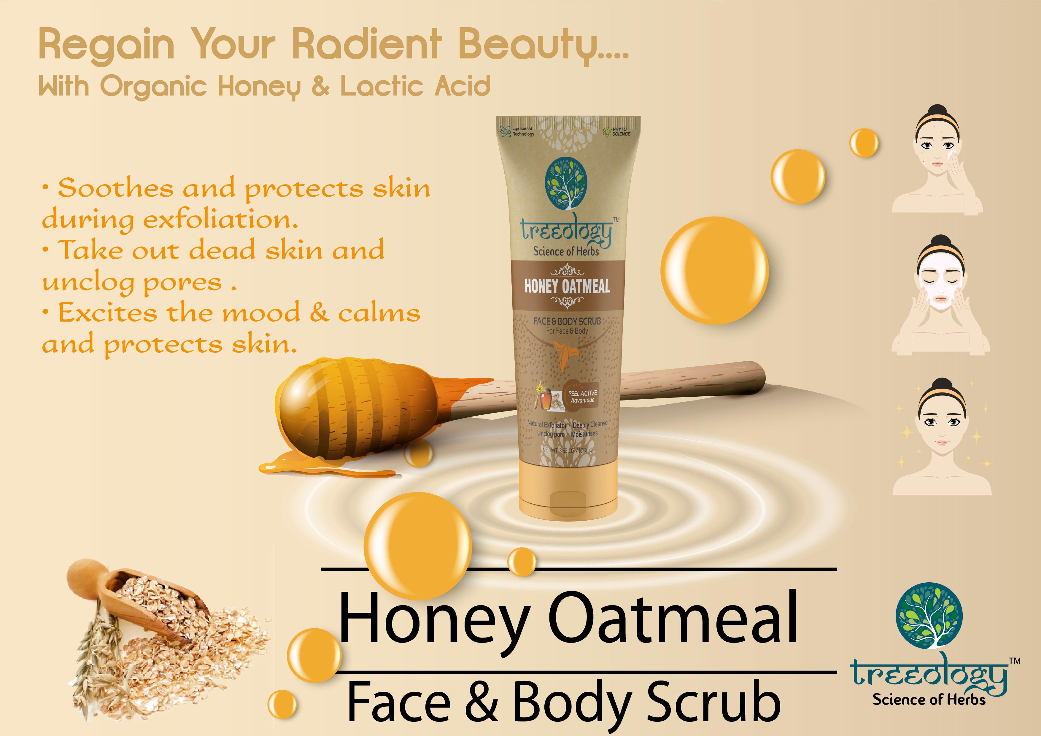 Honey Oatmeal Face & Body Scrub