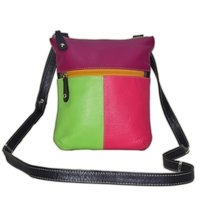 Fashionable Ladies Genuine Leather Cross Body Bag- Stylish Shoulder sling Bag- Evening Party Bag - Multi-color