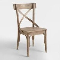 Armless Wooden Chair