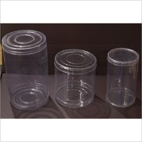 Cylindrical Plastic Container