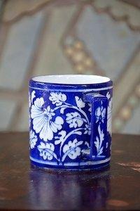 Blue Pottery Mug