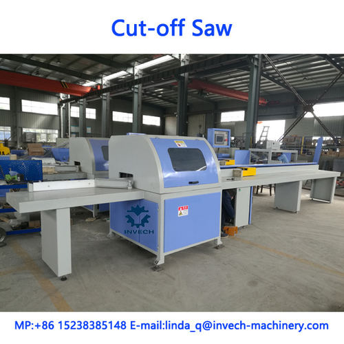 Wood timber cross cut off saw machine