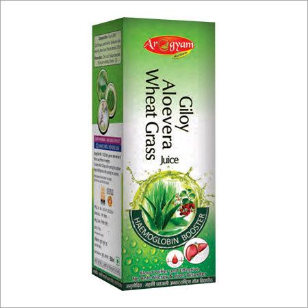 Giloy Aloe Vera Wheat Grass Juice