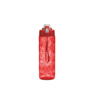 Red plastic Bottle