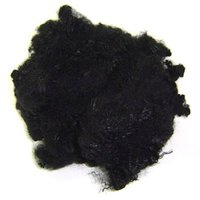 Black Recycled Polyester Staple Fibre