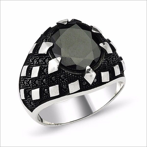 Mens Trendy Stone Ring