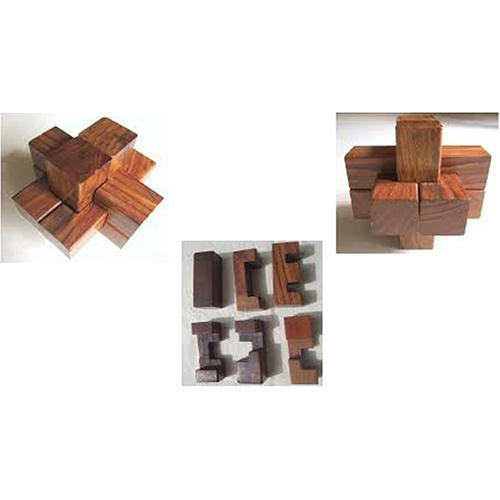 Intersecting Wooden Logs Puzzle
