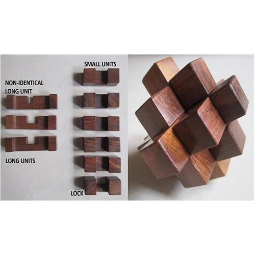 9 Piece Wooden Puzzle