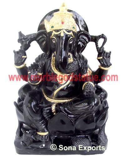 Black Marble Ganesh Murti
