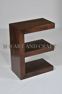 Wooden E Shape Display Unit